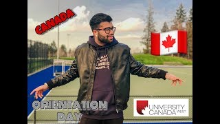 ORIENTATION DAY IN  COLLEGE  CANADA FOR  INTERNATIONAL STUDENT