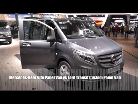Custom Ford Transit >> Mercedes-Benz Vito Panel Van 2015 vs Ford Transit Custom Panel Van 2015 - YouTube