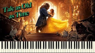 Video Beauty and the Beast (Tale as Old as Time) Synthesia Piano Solo download MP3, 3GP, MP4, WEBM, AVI, FLV Agustus 2018