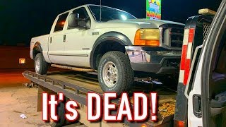 Cheap $4K Copart 99 F250 7.3L Powerstroke Died!! #Stranded
