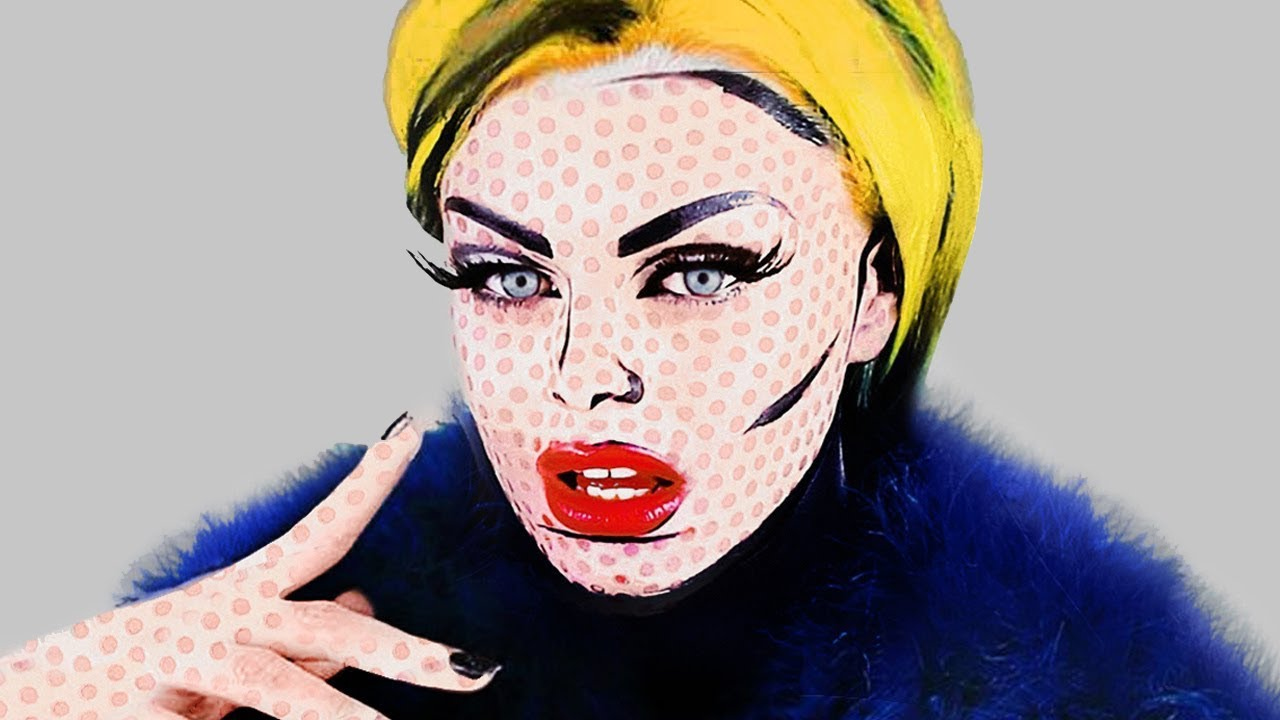 POP ART COMIC BOOK MAKEUP - ROY LICHTENSTEIN / ANDY WARHOL ...