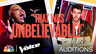 """Dana Monique Delivers on Aretha Franklin's """"Freeway of Love"""" - The Voice Blind Auditions 2021"""