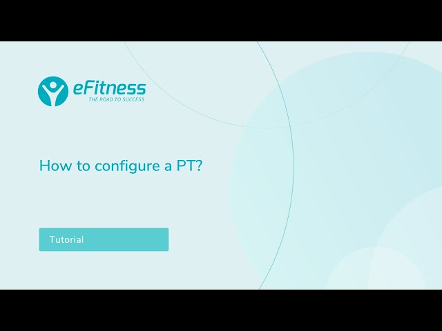 How to configure a Personal Training