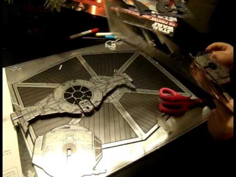 how to make a paper tie fighter