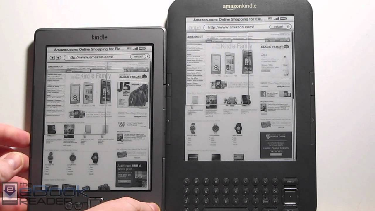 Kindle 4 vs Kindle 3 Keyboard Comparison Review (Video) | The eBook