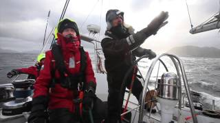 How to heave to in a yacht –Skip Novak's Storm Sailing