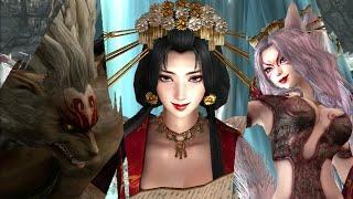Warriors Orochi 3 Ultimate - Tamamo No Mae, Hundun, Kyubi No Kitsune Gameplay (LEVEL 1 CHAOS)
