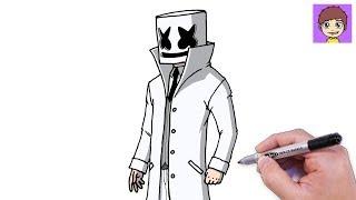 Download Como Dibujar A Marshmello Dj Paso A Paso Videos Dcyoutube