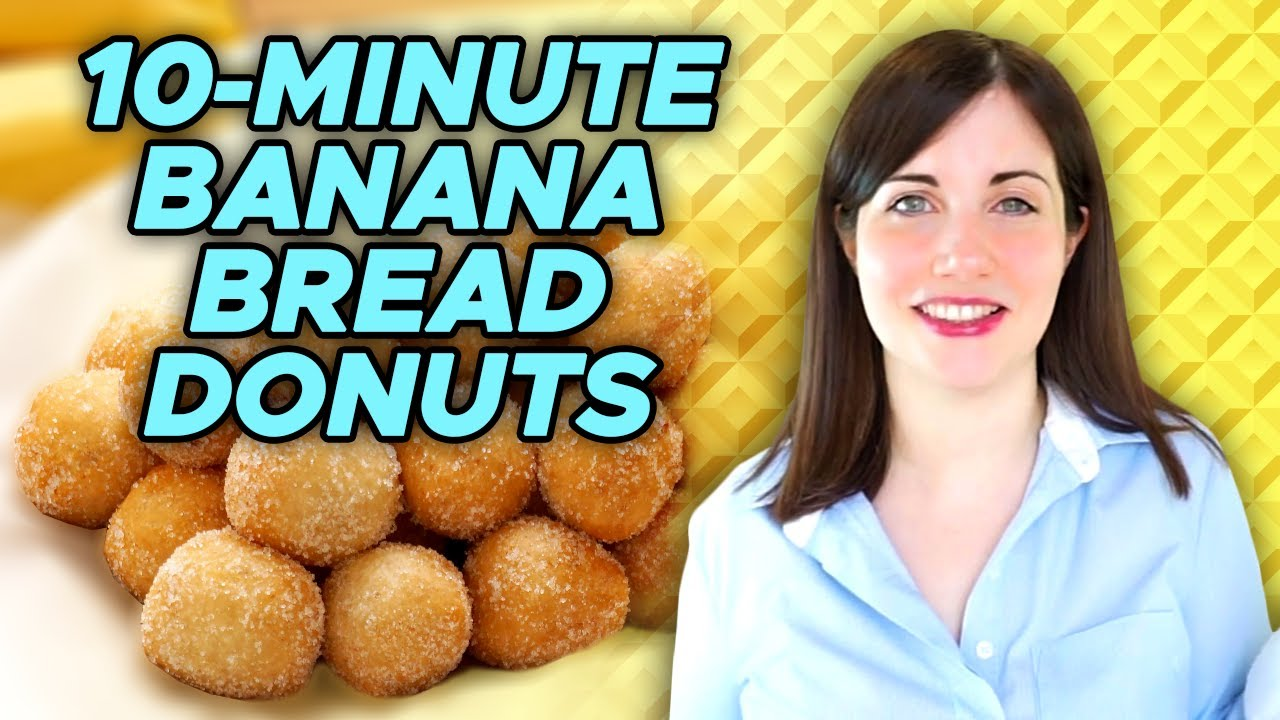 10-Minute Banana Bread Donuts Challenge feat. @Emma's Goodies