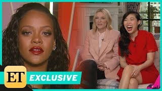 watch rihanna put the oceans 8 cast on the spot with sneaky question exclusive
