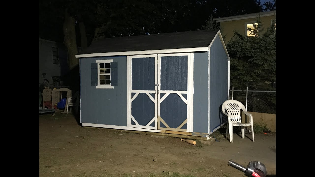 Heartland 8x10 Shed Lowes Youtube