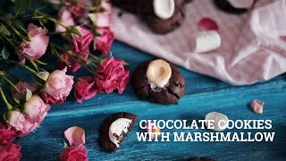 Chocolate cookies with marshmallow [BA Recipes]