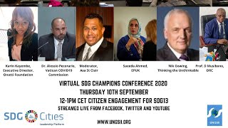 Virtual SDG Champions Conference - Citizen Engagement for SDG13
