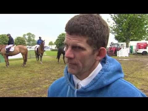 Showjumping - Nigel Coupe talks about the terrible weather during his round