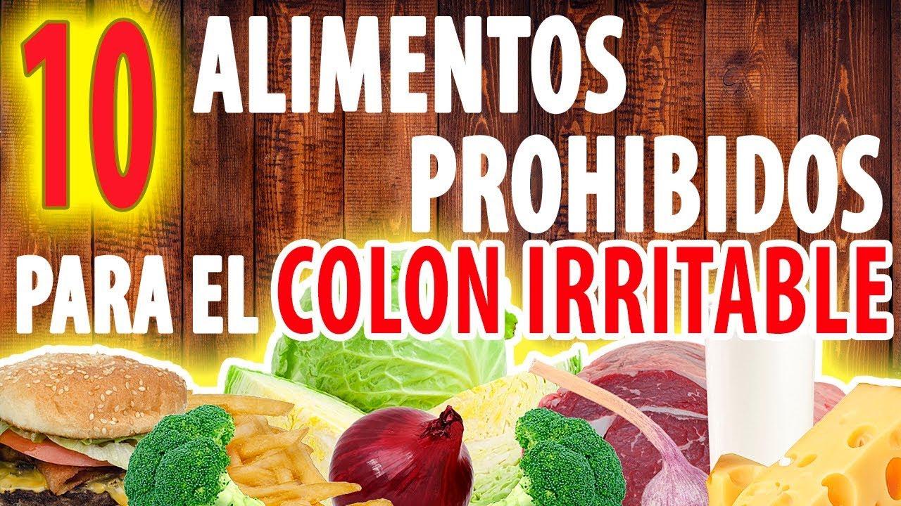 alimentos permitidos y no permitidos para sindrome de colon irritable