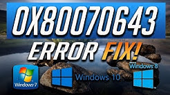 Fix Windows Update Error 0x80070643 in Windows 10/8/7 [2018 Tutorial]