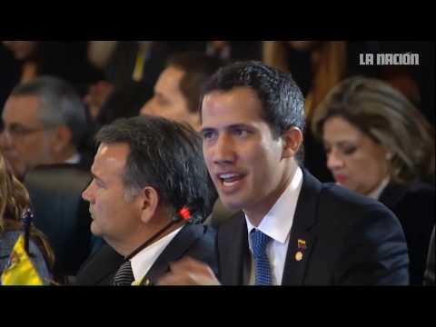 Juan Guaidó ante Grupo de Lima en Bogotá