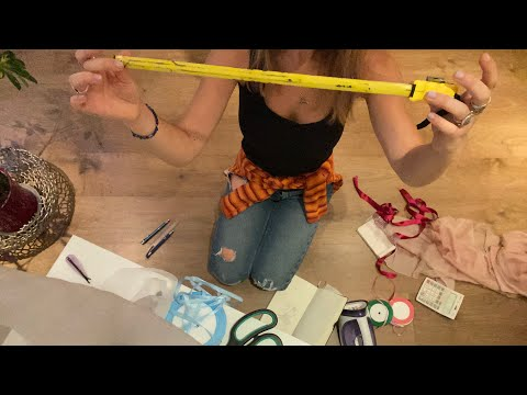 ASMR tailor fitting and measuring :)