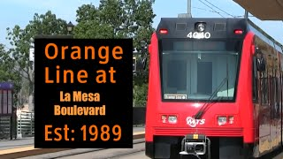 San Diego Trolley at La Mesa Blvd