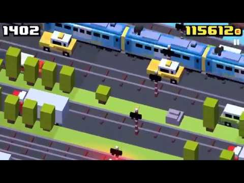 Crossy Road - over 2000 Score with Baby chicken
