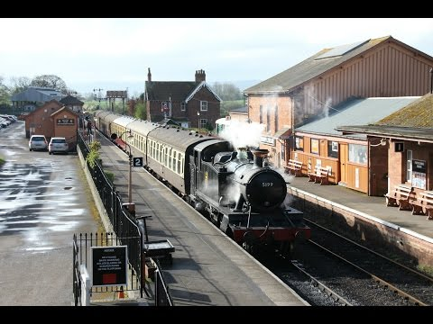 GWR 5101 class No. 5199 departs Bishops Lydeard, 04/04/2017