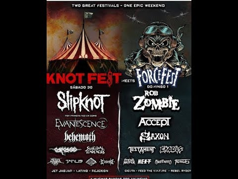 'Knotfest Meets Forcefest' 2019 line ups in Mexico City...!