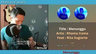 Menunggu - Rita Sugiarto & Rhoma Irama | By Request (video karaoke duet bareng lirik tanpa vokal)