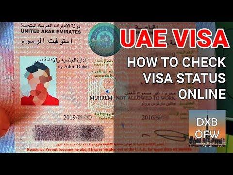 How To Check UAE Visa Status Online 2019   Dubai Visa Validity