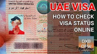 How to Check UAE Visa Status Online 2019 | Dubai Visa Validity