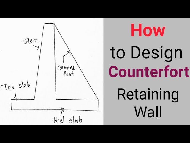 Design Of Counterfort Retaining Wall Part 1 Youtube