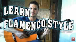 "HOW TO PLAY FLAMENCO Style (1 of 3) Guitar Triplet ""Abanico"". EASY METHOD Guitar for Beginners"