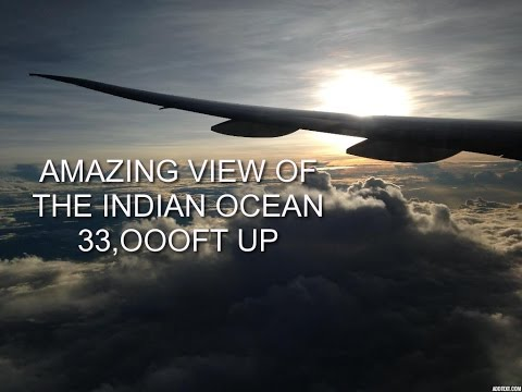 AMAZING VIEWS FLYING OVER THE INDIAN OCEAN ON THE WAY TO BANGKOK,ON BOARD ETIHAD BOEING 777-300