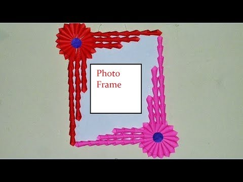 Make Awesome Photo Frame Out Of Paper Sticks |DIY Photo Frame Tutorial|| Craft Ghor