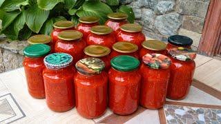 Очень вкусная Икра из помидоров,моркови и сладкого перца на зиму🍅🥕 Заготовки на зиму