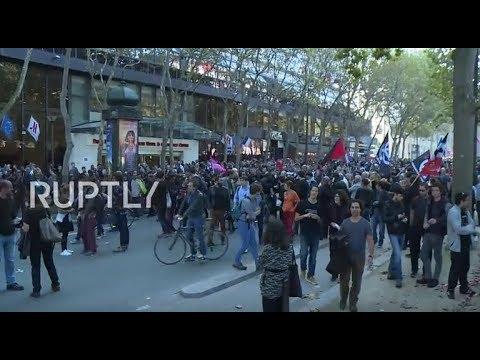 France: Thousands take to Paris streets to protest Macron's labour law amendments