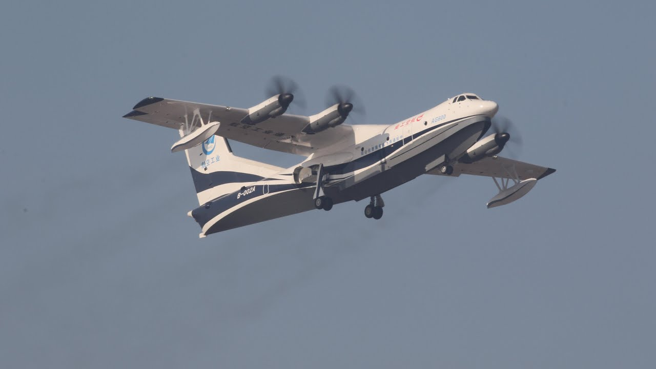 China launches AG600, the world's biggest amphibious aircraft
