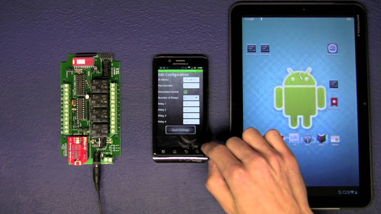 Control Relays From Your Android Phone And Tablet Youtube