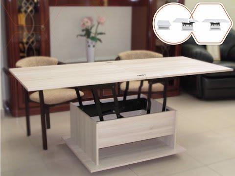 Журнально-обеденный стол трансформер: особенности конструкции и оригинальные решения