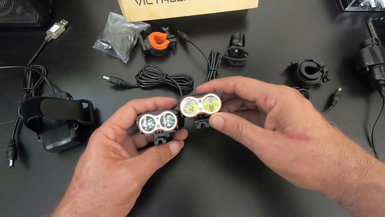 New and Improved $25 Victagen 2400 Lumen K2D bike light vs previous model