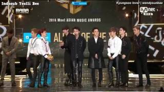 [INDOSUB] 161202  EXO 'Album of the Year' part 1/2 - 2016MAMA