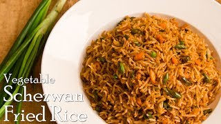 Veg. Schezwan Fried Rice | Indo-Chinese Fried Rice | Homemade Schezwan Rice ~ The Terrace Kitchen