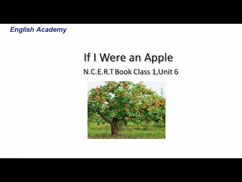 If I were an Apple| CBSE  English Class 1 Lesson 6