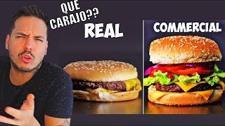 COMIDA EN COMERCIALES vs COMIDA REAL