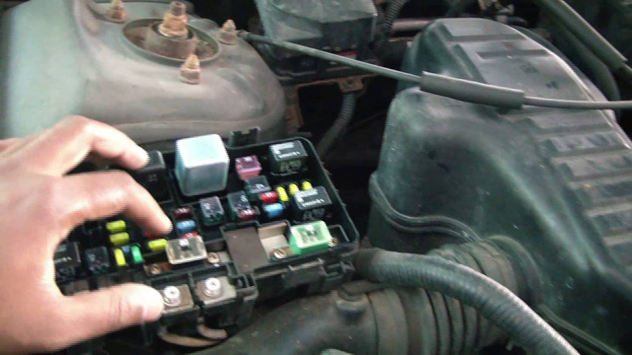 2005 Honda Civic Under Hood Fuse Box - YouTube