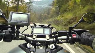 Yamaha Mt 09 Tracer German countryside riding in October