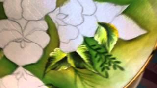 Pintura de flores com Cony 1