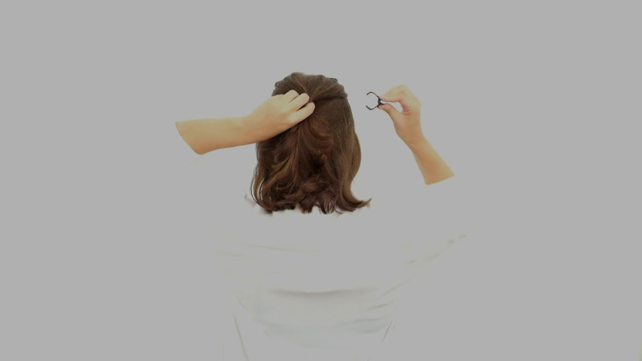 Quickly Tie Back Short Hair Using Our Mini Hair Claw Youtube
