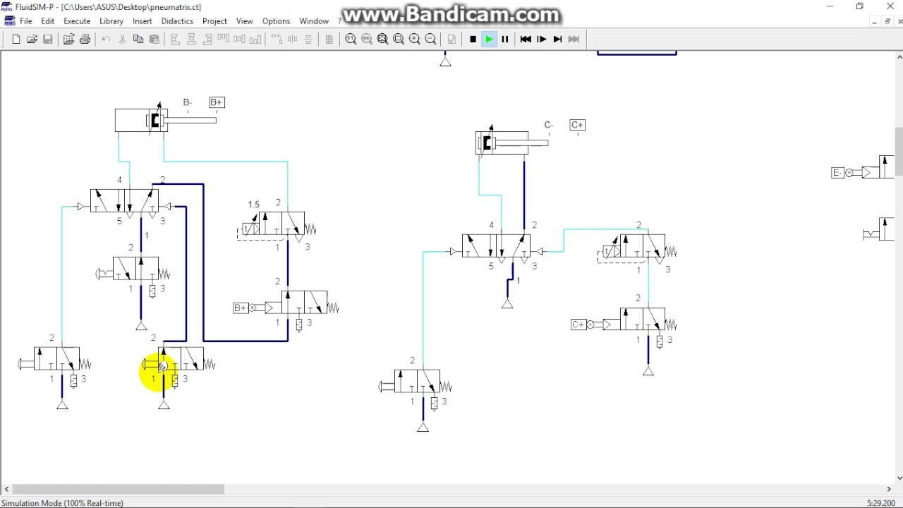 hydraulic logic valve simulation