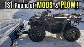 2018 POLARIS Sportsman 1000 XP HUNTER - First MODS & Overview | Glacier PRO Plow Setup