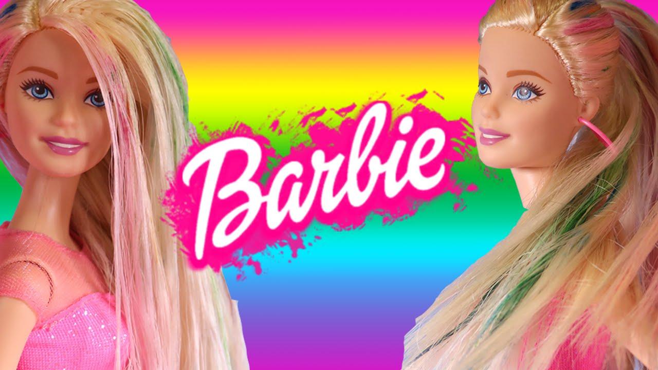 barbie super cool rainbow hair